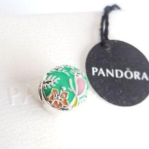Pandora Enchanted Tiki Room Charm  Disney Silver